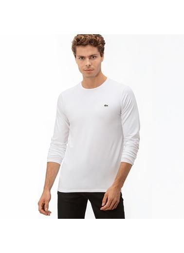 Lacoste Erkek Uzun Kollu Sweatshirt TH0990.001 Beyaz
